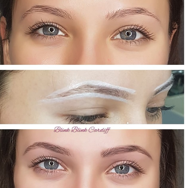 eyebrow shape and tint