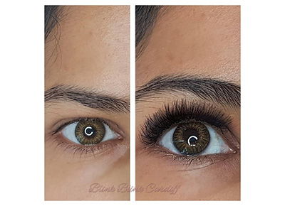 eyelash extensions - russian volume