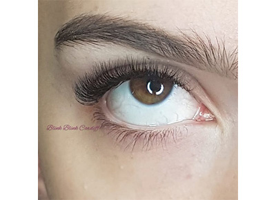 eyelash extensions - light russian volume